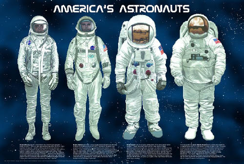 Americas Astronauts Poster