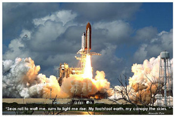 Space-Shuttle-Blastoff-Poster