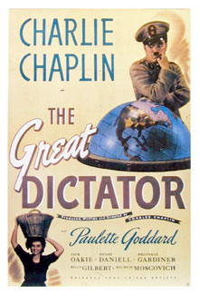 Charlie Chaplin The Great Dictator Poster