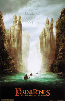 Lord of the Rings two statues Poster