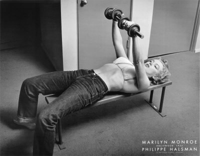 Marilyn Monroe Workout Poster photo by Philippe Halsman