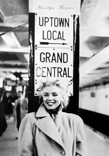 Marilyn Monroe Grand Central Station Poster