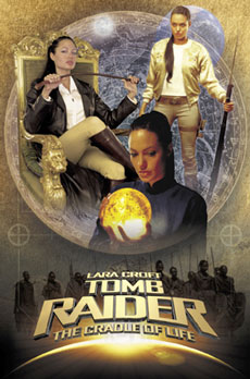 Tomb Raider Map Poster Angelina Jolie As Lara Croft