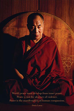 Dalai Lama World Peace Poster