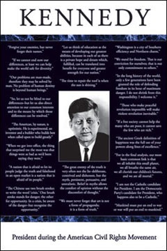President Kennedy Quotes Poster