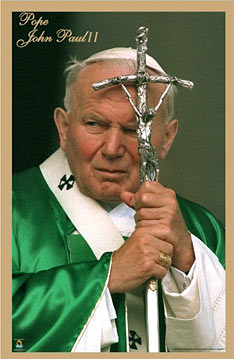 Pope-John-Paul-Green-Vestments-Poster