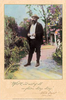 Monet in his Garden Poster
