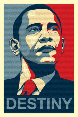 Barack Obama Destiny Poster