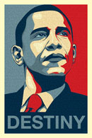 Barack Obama Destiny poster - click to zoom in