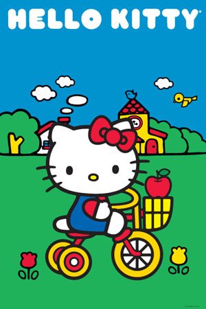 Hello Kitty Tricycle Poster