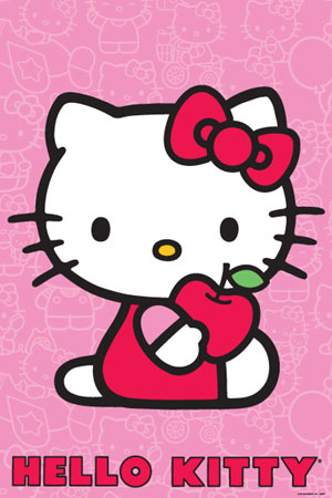 Hello Kitty Pink Poster