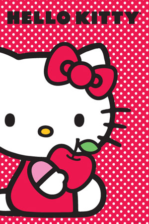 Hello Kitty Apple Poster