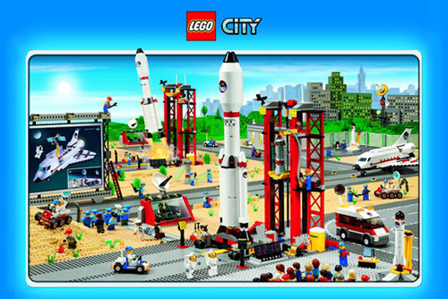 Lego City Space Poster