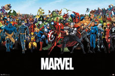Marvel Superheroes Lineup Poster