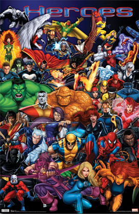 Marvel Superheroes Poster