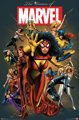 Marvel comics Women of Marvel poster - click Add to Cart to Order