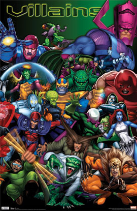 Marvel Villains Poster