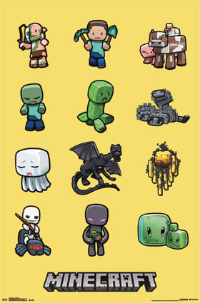 Minecraft Characters Poster
