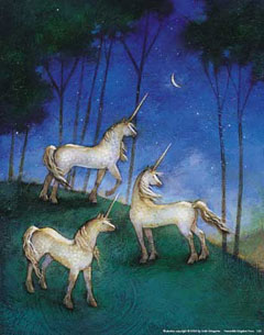 Unicorns-at-Night-Poster