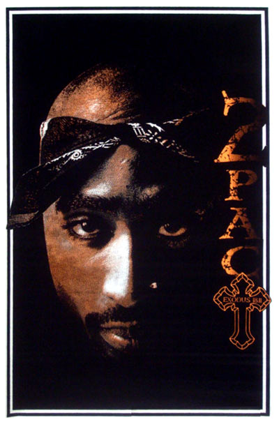 2Pac Portrait Blacklight Poster