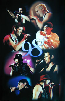 98 Degrees Live Poster