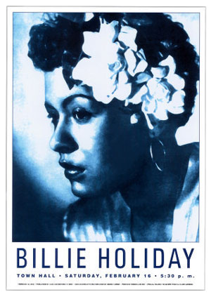 Billie Holiday New York 1948 Concert Poster