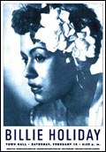 Billie Holiday Concert Poster