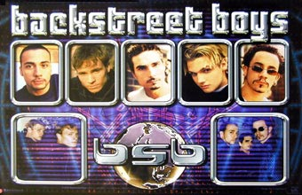 Backstreet Boys Chrome Poster