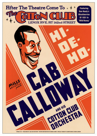 Cab Calloway Cotton Club Poster