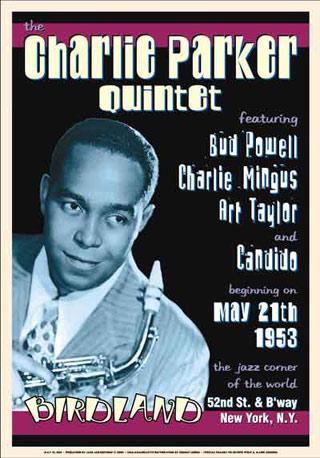 Charlie-Parker-Quintet-1953-Reproduction-Concert-Poster