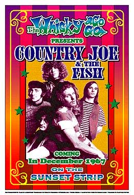 Country Joe McDonald and the Fish 1967 Reprint Concert Poster