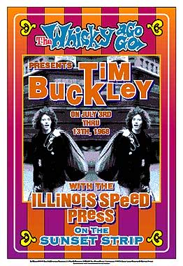 Tim Buckley Poster Click Add to Cart to order.