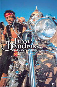 Jimi Hendrix South Saturn Delta Poster