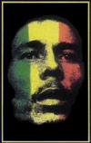 Bob Marley Blacklight Poster