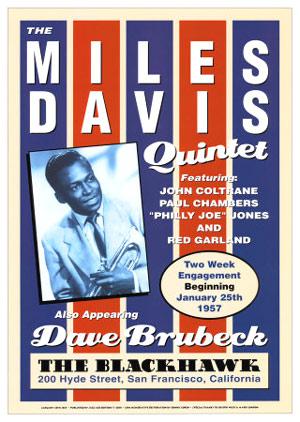 Miles-Davis-Quintet-1957-Reproduction-Concert-Poster