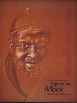 Thelonioous Monk by Rosalinda Kolb Poster