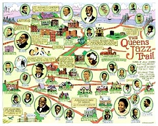 Queens Jazz Trail Poster Map Click Add to Cart to order