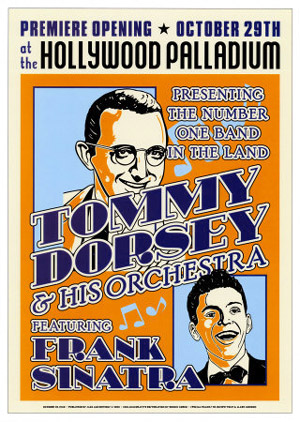 Tommy-Dorsey-and-Frank-Sinatra-Reproduction-1940-Concert-Poster