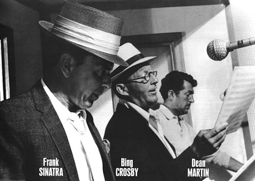 Frank Sinatra Bing Crosby and Dean Martin Poster