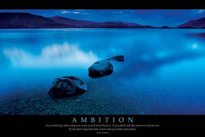 Ambition Motivational Poster