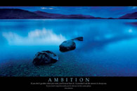 Ambition Motivational poster Click Add to zoom in