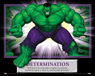 Determination the Hulk Motivational Poster