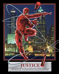 Daredevil Justice Motivational Poster
