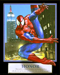 Spiderman Honor Motivational Poster