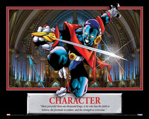 Character Nightcrawler Motivational Poster