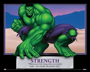 Strength - The Hulk Motivational Poster
