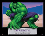 Incredible Hulk Strength Motivational Poster