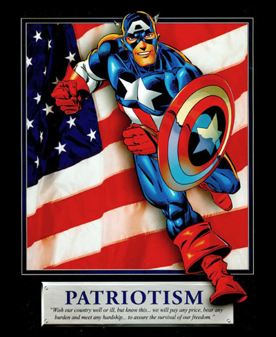 Captain America Patriotism Motivational Poster