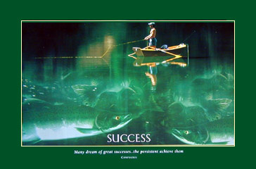 Success Persistence Motivational Poster