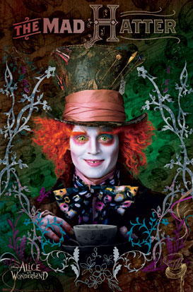 Johnny Depp Mad Hatter Poster